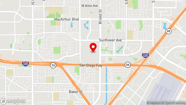 Google Map of 3333 Bristol Street, Costa Mesa, CA 92626