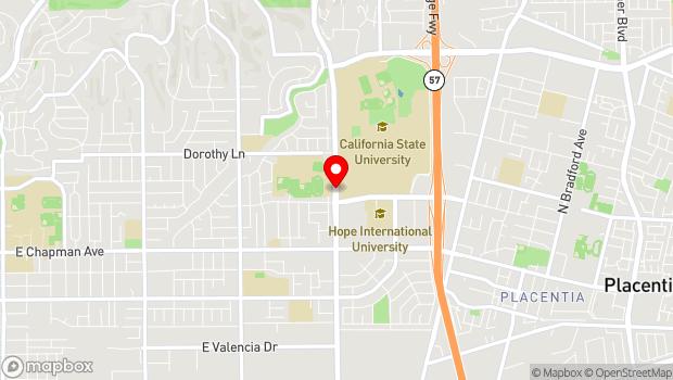 Google Map of 800 North State College Boulevard, Fullerton, CA 92831