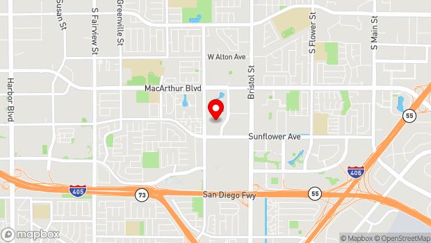Google Map of 3851 South Bear Street, Suite B15, Santa Ana, CA 92704