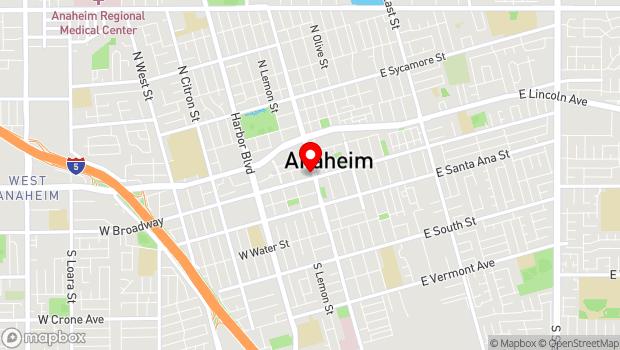 Google Map of 241 South Anaheim Boulevard, Anaheim, CA 92805