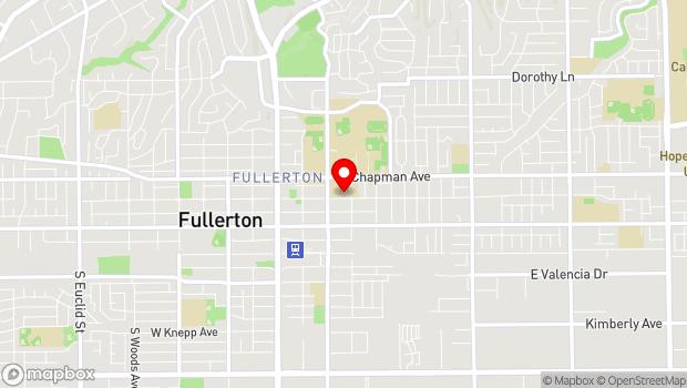Google Map of 315 East Wilshire Avenue, Fullerton, CA 92832