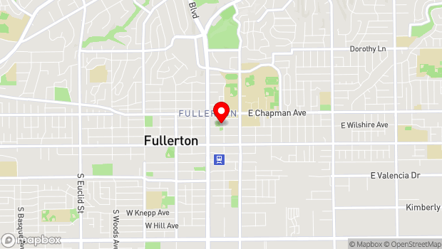 Google Map of 301 North Pomona Avenue, Fullerton, CA 92832