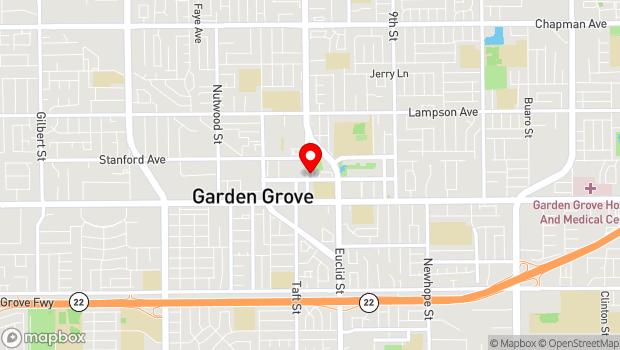 Google Map of 12852 Main Street, Garden Grove, CA 92845