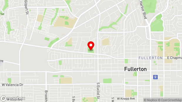 Google Map of 1201 West Malvern Avenue, Fullerton, CA 92833