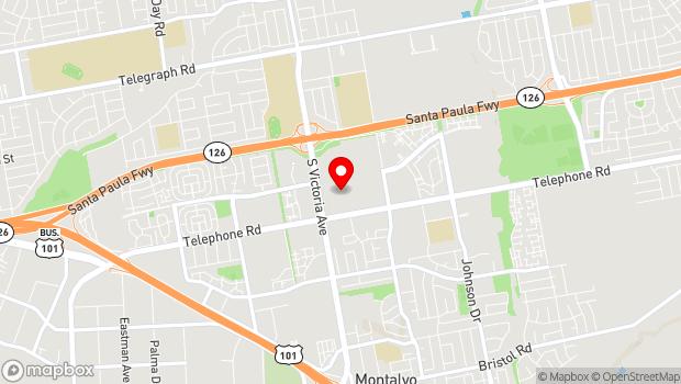 Google Map of 800 S. Victoria Ave., Ventura, CA 93003