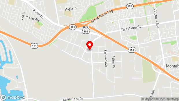 Google Map of 4601 Telephone Rd #112, Ventura, CA 93004