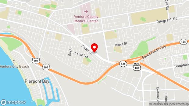 Google Map of Pacific View Mall, Ventura, CA 93003