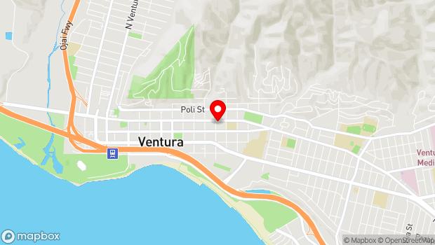 Google Map of 1006 E. Main Street, Ventura, CA 93001