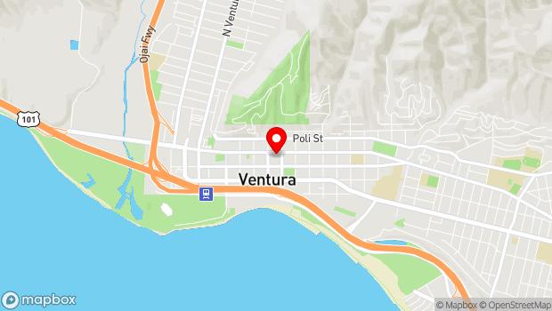 Google Map of 560 E Main St., Ventura, CA 93001