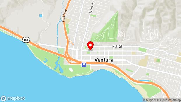 Google Map of Figueroa and Main Street, Ventura, CA 93001