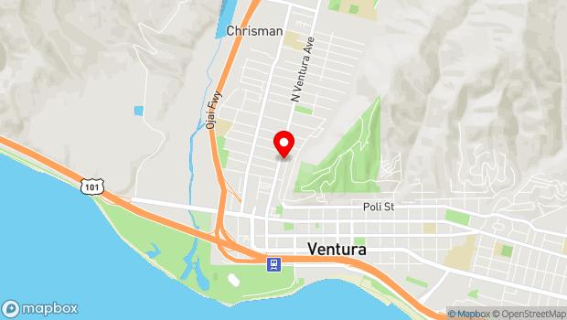 Google Map of 432 N. Ventura Ave., Ventura, CA 93001
