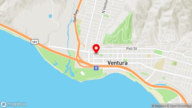 Google Map of 56 East Main Street Suite 208, Ventura, CA 93001