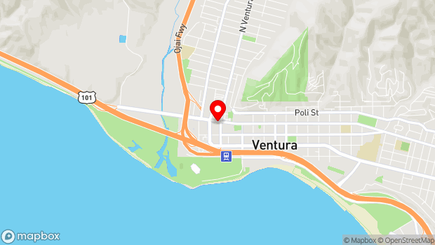 Google Map of 28 W. Main St., Ventura, CA 93001