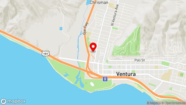 Google Map of 197 Dubbers St, Ventura, CA 93001