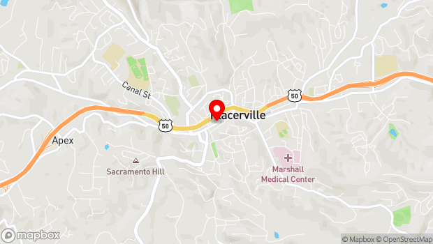 Google Map of 379 Main St., Placerville, CA 95667