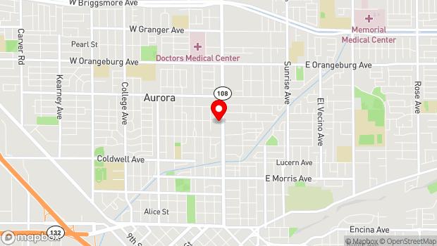 Google Map of 945 McHenry Ave, Modesto, CA 95350