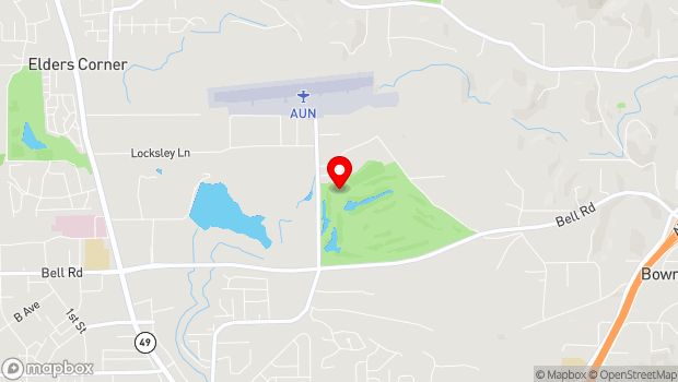 Google Map of 2020 Golf Course Rd., Auburn, CA 95602