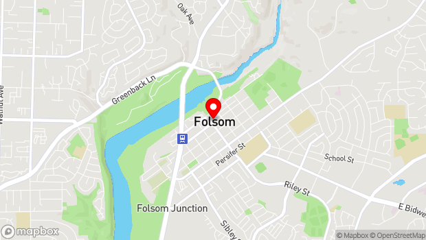 Google Map of 614 Sutter St., Folsom, CA 95630