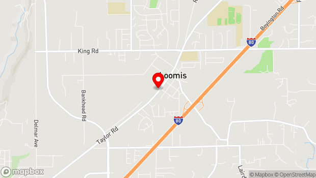 Google Map of 3750 Taylor Rd., Loomis, CA 95650