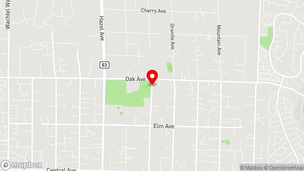 Google Map of 7301 Filbert Ave, Orangevale, CA 95662