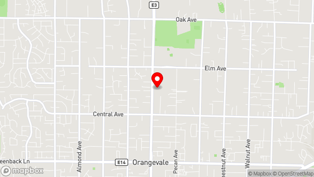 Google Map of 6826 Hazel Ave, Orangevale, CA 95662