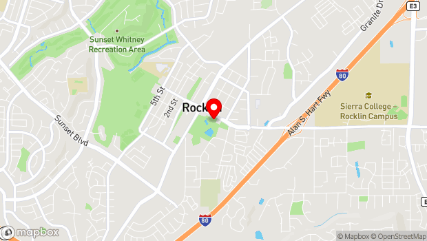 Google Map of 4000 Rocklin Rd., Rocklin, CA 95677
