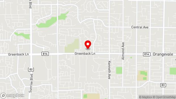 Google Map of 8321 Greenback Ln., Fair Oaks, CA 95628