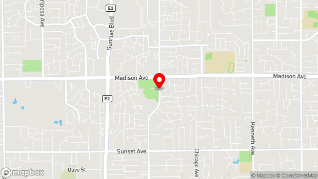 Google Map of 11549 Fair Oaks Blvd, Fair Oaks, CA 95628