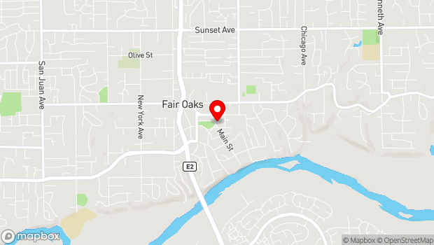 Google Map of 4238 Main St, Fair Oaks, CA 95628