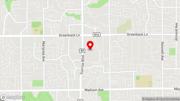 Google Map of 6041 Sunrise Mall, Citrus Heights, CA 95610