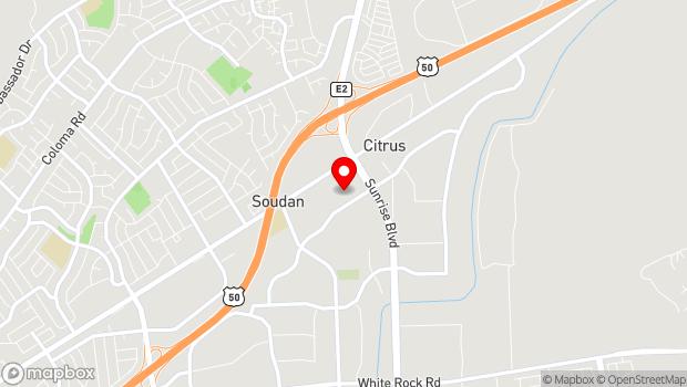 Google Map of 11167 Trade Center Drive, Rancho Cordova, CA 95670