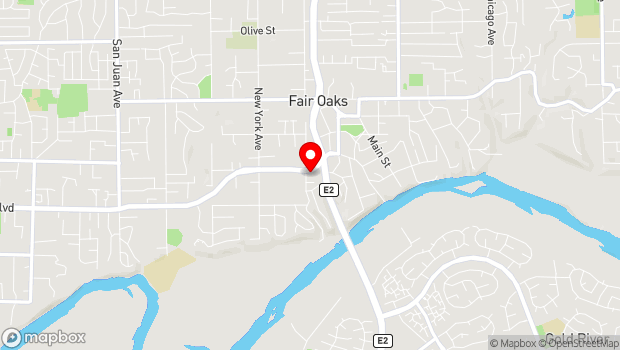 Google Map of 9906 Fair Oaks Blvd, Fair Oaks, CA 95628