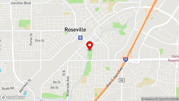 Google Map of 190 Park Dr., Roseville, CA 95678