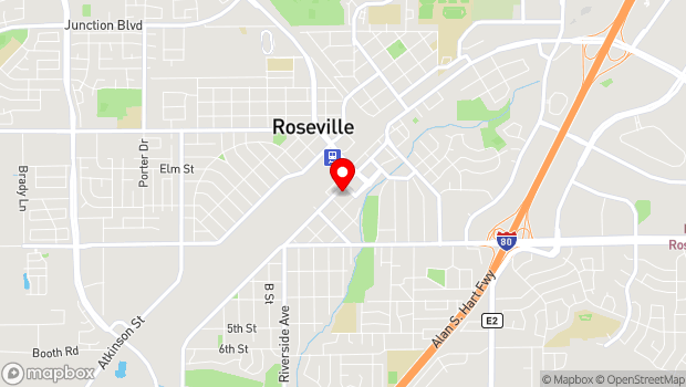 Google Map of 405 Vernon Street, Roseville, CA 95678