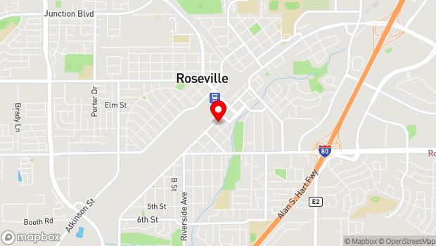 Google Map of 421 Vernon St., Roseville, CA 95678