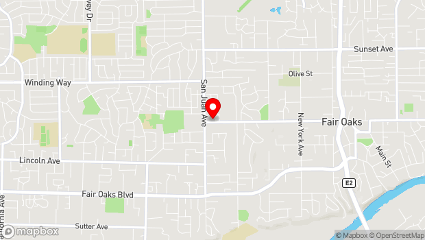 Google Map of 7425 Winding Way, Fair Oaks, CA 95628
