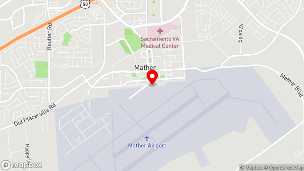 Google Map of 10510 Superfortress Avenue, Mather, CA 95655