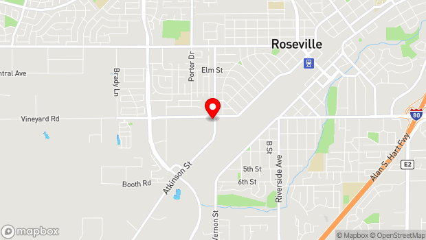 Google Map of 1551 Vineyard Rd, Roseville, CA 95678