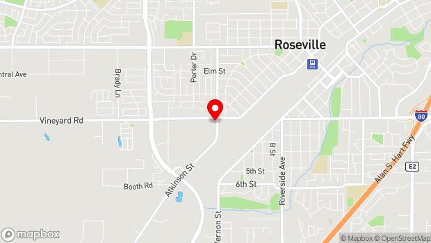 Google Map of 1551 Vineyard Rd, Roseville, CA 95678