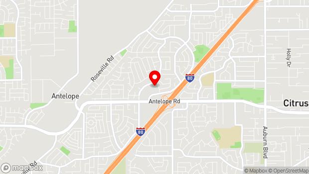 Google Map of 7867 Lichen Dr, Citrus Heights, CA 95621