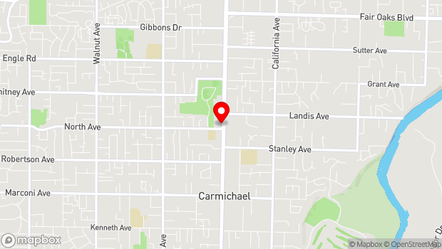 Google Map of 6811 Fair Oaks Blvd, Carmichael, CA 95608