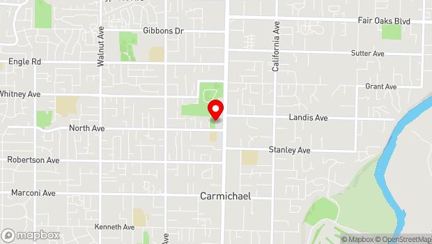 Google Map of 6821 Fair Oaks Blvd., Carmichael, CA 95608