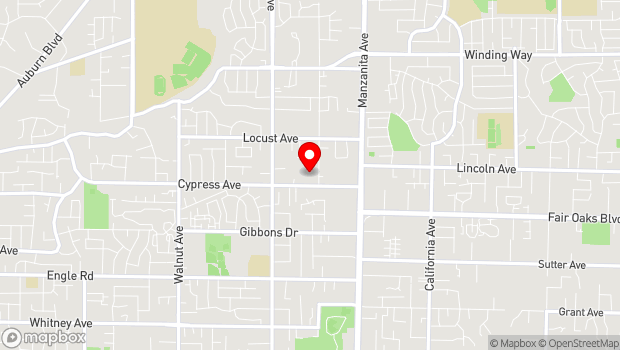 Google Map of 5631 Cypress Ave, Carmichael, CA 95608