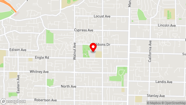 Google Map of 5325 Engle Rd., Carmichael, CA 95608