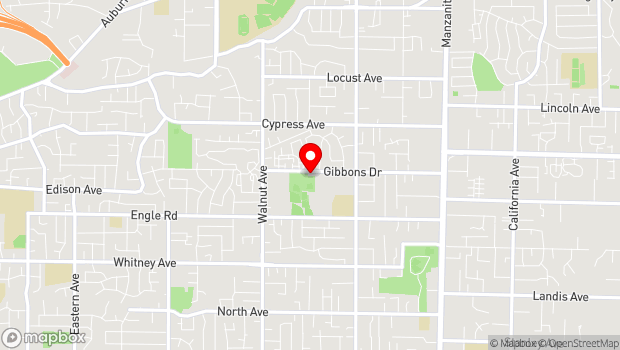 Google Map of 5330 Gibbons Drive, Suite B, Carmichael, CA 95608