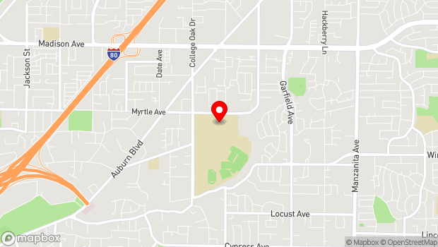 Google Map of 4700 College Oak Drive, Sacramento, CA 95842