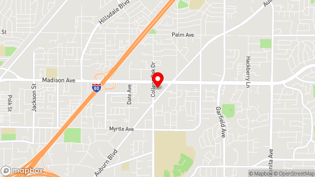 Google Map of 4909 Auburn Blvd, Sacramento, CA 95841