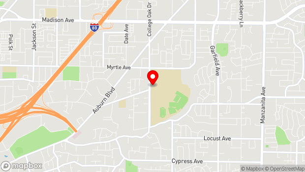 Google Map of 4700 College Oak Drive, Sacramento, CA 95841