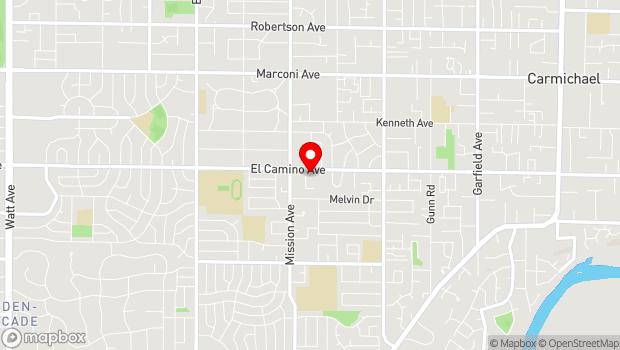 Google Map of 4746 El Camino Ave., Carmichael, CA 95608