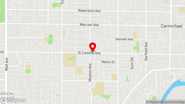 Google Map of 4717 El Camino Ave., Carmichael, CA 95608
